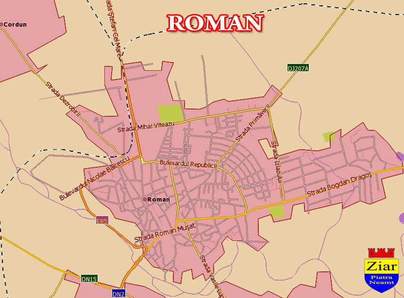 Harta Roman Neamt