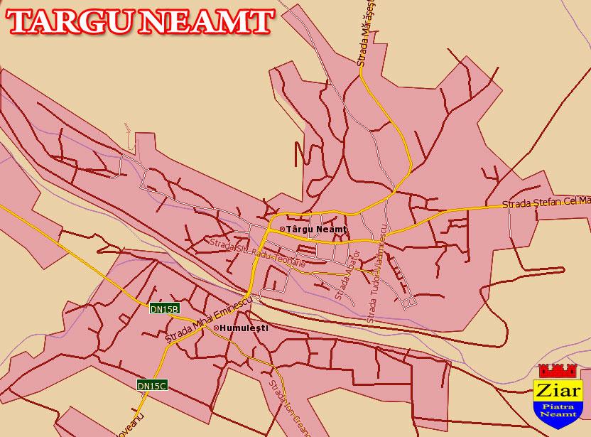 Harta Targu Neamt