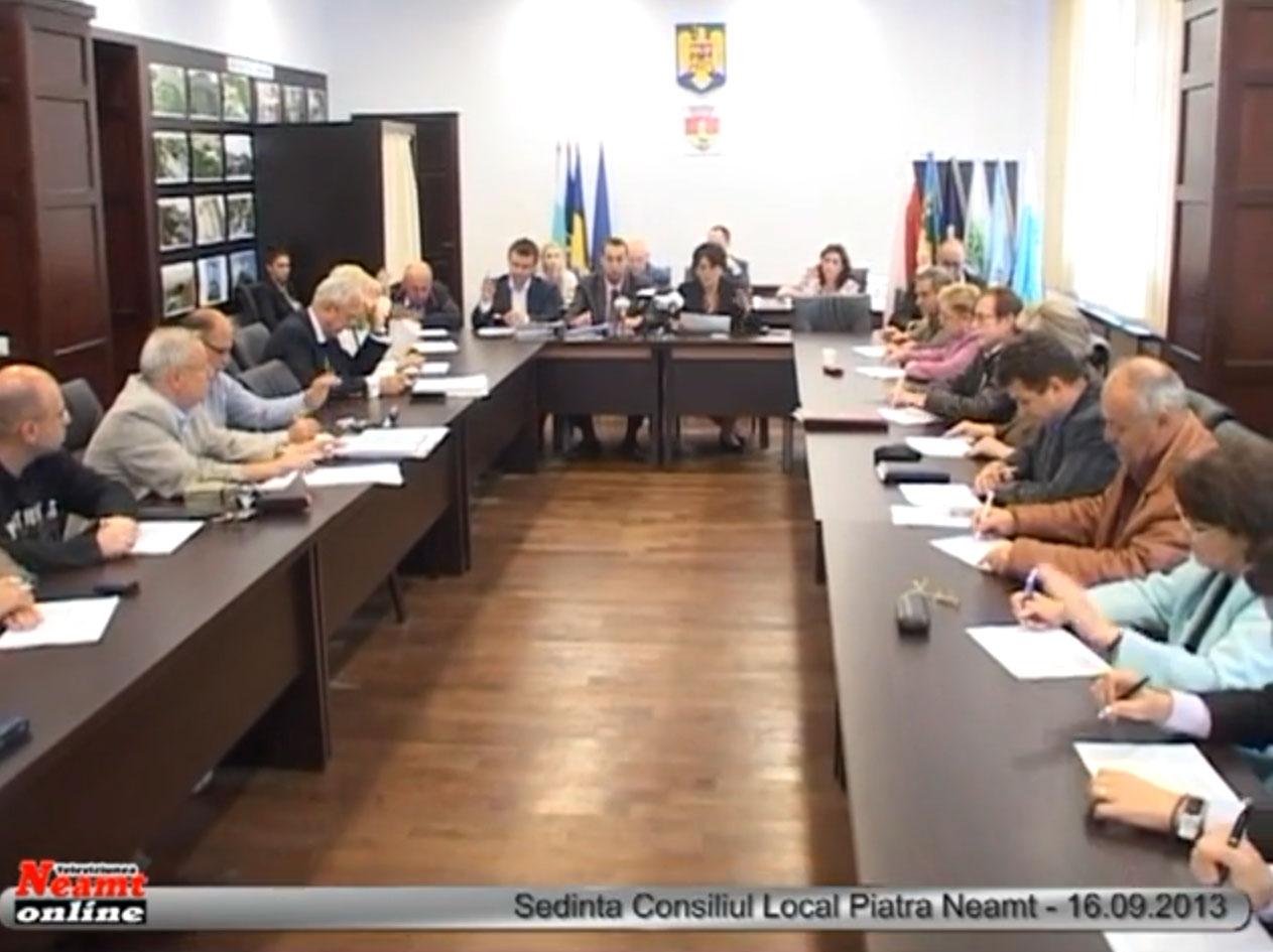 Sedinta Consiliul Local Piatra Neamt - 16.09.2013