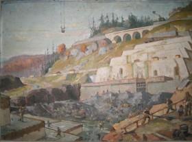 Nicu Enea, Barajul de la Bicaz, u/c; 0,700 x 1,000