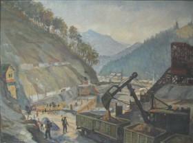 Dumitru Irimescu , Baraj in constructie, u/p, 0,580 x 0,780