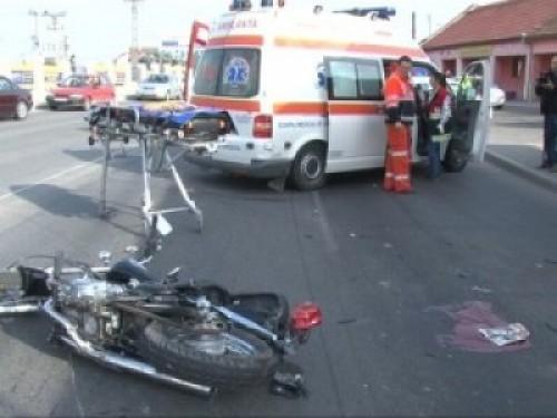 Accident motocicletă