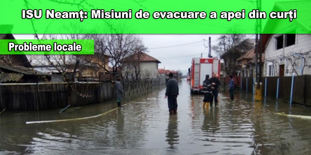 evacuarea apei