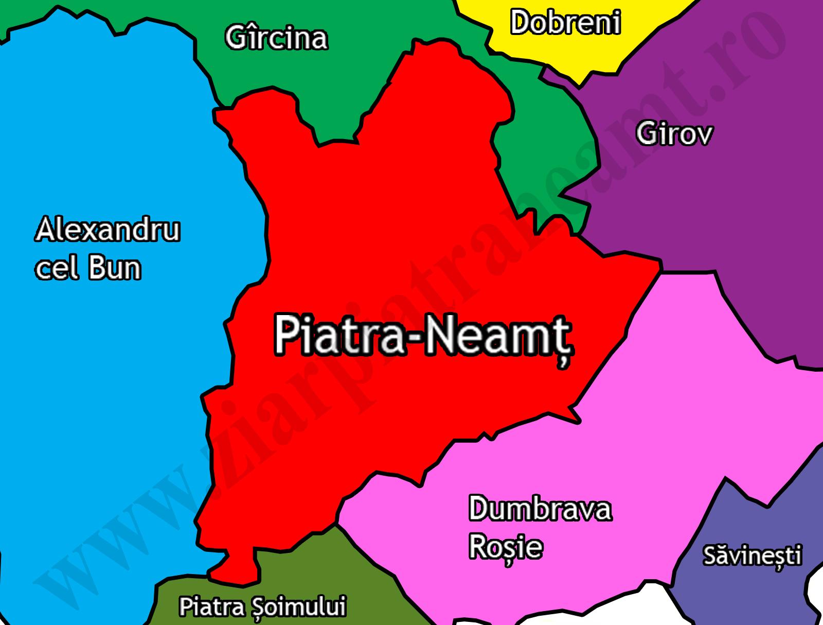 Hartă Piatra Neamț C